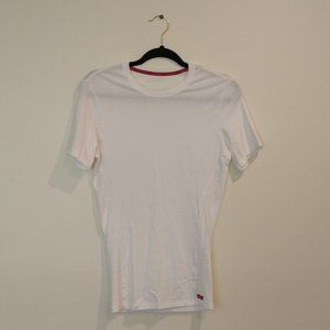 Calvin Klein white stretch fitted tee